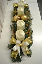 excl. Adventskranz creme-gold 60 cm künstlich Weihnachten Advent Gesteck