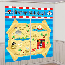 6ft Pirate Party Happy Birthday Scene Setter Wall Decoration Banner Photo Prop