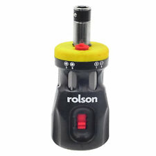 Rolson 28402 Compact Stubby Ratchet 12 In 1 Screwdriver & 6 Bits
