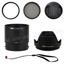 72mm UV CPL Filter & Lens Adapter & Hood & Cap for NIKON COOLPIX P600 P610 P610S
