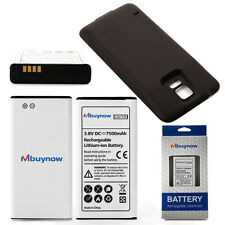 New 7500mAh Extended Battery for Samsung Galaxy S5 SM-G900/GT-i9600+Black Cover