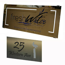 Letterbox House Plaques Stainless Steel