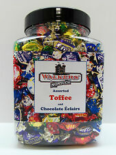 WALKERS NONSUCH Assorted Toffees & Chocolate Eclairs Jars 1.2kg- Christmas Gift