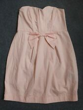 Ladies light pink strapless mini cocktail dress UK 14 ASOS SMALL MORE UK 10 12?