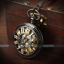 Bronze Herren Handaufzug Taschenuhr Mechanisch Automatikuhr Exquisite Geschenk