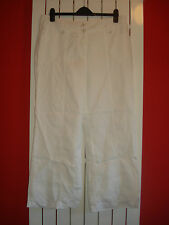 bnwt new ladies per una pure linen white trousers size 16 short   pisa fit