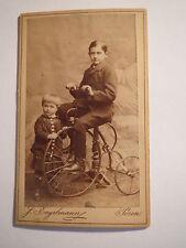 Posen - 1885 - Wilhelm Siegfried & Otto von Schultzendorff mit Dreirad / CDV