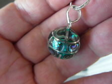 Balinese Sterling Silver mother of pearl 16mm harmony ball pendant with chain