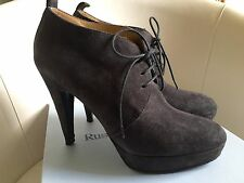 RUSSELL & BROMLEY CAPER GREY SUEDE LACE UP PLATFORM SHOES BOOTS SIZE 38 Eur 5UK