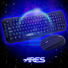 ARES USB Standard Wireless Keyboard and 1600 DPI Optical Mouse for PC Combo T1