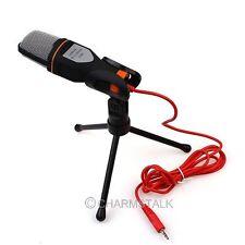 Kondensator Sound Aufnahme Professionell Mikrofon Mic+Ständer für PC Notebook