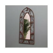 Gothic Arch Mirror Chic Antique Indoor Outdoor Wall Mounted Hanging Wall Art