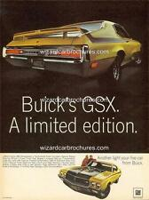 1970 BUICK GSX 455 A3 POSTER AD SALES BROCHURE ADVERTISEMENT ADVERT
