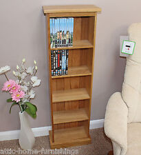 Dvd Storage Tower Unit Double Solid Oak FREE DELIVERY.
