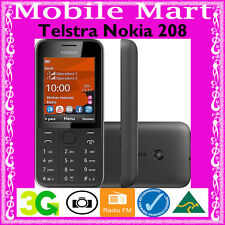 "TELSTRA◉NOKIA 208◉BLUE TICK◉2.4"" Screen◉1.3MP Camera◉MP3◉RURAL/REGIONAL◉3G◉NextG"
