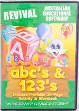 abc & 123 Learn to Count & Alphabet Windows 7 Edu Computer Game Aus Software