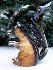 Eichhörnchen Skulptur Glas Figur Glasfigur Deko Kristallglas Murano Stil 21 cm
