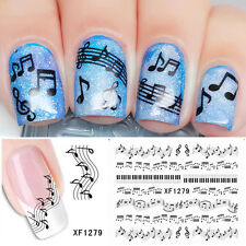 Nail Art Set  Musical Sheet Music Note Water Transfer/Decal/Stickers NEW