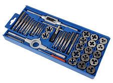 40pcs QUALITY HARDENED METRIC TAP & DIE SET Screw Thread Taper Drill Tool KIT