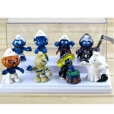 New Cute 8PCS The Smurfs Papa Smufette Halloween Collection Figures Toy Doll Set