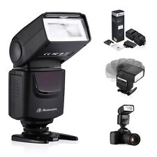 Flashgun With LED Flash Speedlite Light For Canon Nikon D90 D80 D70s DSLR Camera
