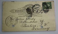 USA 1935 auf Berlin - Sendungsanzeige für dem Dampfer Phoenicia