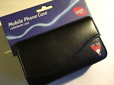 Universal Corporate Horizontal AFL Sydney Swans Leather Pouch in Black AFL-UCSYD