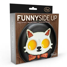 FUNNY SIDE UP Crazy Cat Lady Silicone Fried Egg Mold - Novelty Kitchen Cooking