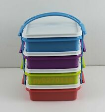 Tupperware Small Goody Box with Cariolier Set of 4 (790ml each) + Free Shipping
