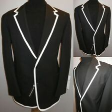 NEW BLACK 40 R THE PRISONER STYLE COLLEGE BOATING BLAZER SUIT JACKET SPORT COAT
