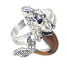 1 PC Little Mermaid Emotion Mood Ring Colour Changing Girl Cute Gift Adjustable