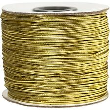 5m x 1mm Gold Round Cord Elastic - Christmas Bracelet Jewellery Making Crafts