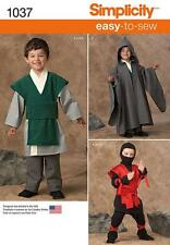 SIMPLICITY SEWING PATTERN BOYS EASY  SEW COSTUMES SUPER HERO VILLAIN NINJA 1037