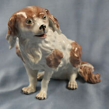Bologneser hund figur gemarkt porzellan Dresden gemarkt porzellanfigur