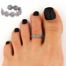 Hot Celebrity Fashion Retro Silver Adjustable Carving Toe Ring Beach Jewellery