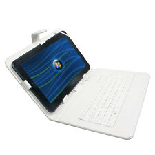 10.1' inch Micro USB Keyboard Leather Case Cover  For Android Tablet PC White