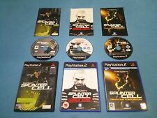 3x SPLINTER CELL   game bundle for PS2 PAL *Complete*Free UK P&P