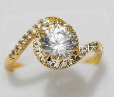 18K BEAUTIFUL YELLOW GOLD FILLED RING SIZE 7 + FREE GIFT