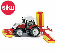 SIKU NO.1672 1:87 Scale STEYR TRACTOR WITH POTTINGER MOWERS Dicast Model / Toy