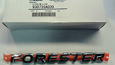 GENUINE Subaru Forester Tailgate Badge MY03 - MY08 93073SA030 NEW