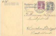 """CH """"BIEL (BIENNE) IV BÖZINGEN"""" grosser K1 (mit Einsätze) 1920 a. 7 1/2 (C.) GA"""