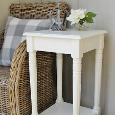 Square Bedroom Lounge End Side Table Cream PAC078IV WAS £109.99