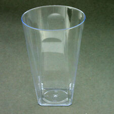 40 x  284ml/10oz  Plastic Square Tumblers/Glasses Hard Disposable Quality- Party