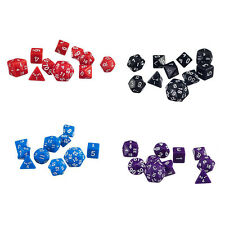 10Pcs/Lots TRPG Games Dungeons & Dragons D4-D30 Multi-Sided Dice Black Color Fun