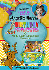 NEW Personalised Birthday Party Invitations scooby doo 8 cards  (A6)