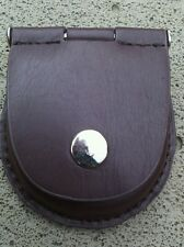 POCKETWATCH BROWN GENUINE LEATHER POUCH/CASE WITH BELT ATTACHMENT