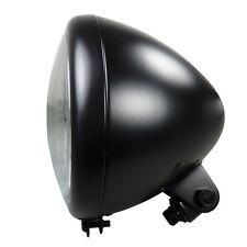 Motorrad Scheinwerfer schwarz im Springer Style mit Klarglas für Bobber Chopper