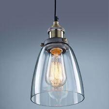 Antik Industrie Glas Schirm Hängeleuchte Pendelleuchte Retrolampe Klassik decken