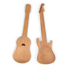 Kikkerland Salatbesteck Rockin' Spoons Holz Gitarre E-Gitarre 2-er Set