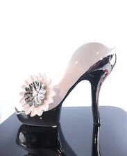 New Stunning White And Silver High Heel Shoe Statue/Ornament Gift Idea For Her